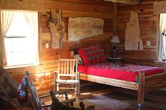 Inside of Small Cabins | Inside the Mitchell Log Cabin, Mitchell Farms, Collins, Mississippi