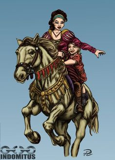 "Princess Julia and Prince Albin riding Nadia ""Buttercup"""