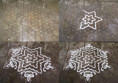 Rangoli designs/Kolam: S.No. 39 :-13-7 pulli kolam- interlaced dots kolam