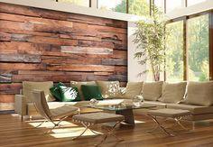 Fototapeten - Fototapete Papiertapete Wooden Wall
