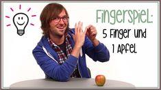 Fingerspiele: Fünf Finger und ein Apfel (Kinderreime) Finger Games, Youtube Comments, Kids Songs, Workplace, Education, School, Videos, Tandem, Kids Poems