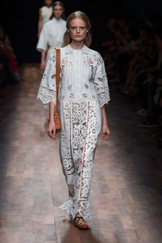 Valentino spring 2015 collection. Photo: Imaxtree BRODERIE ANGLAISE