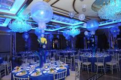 Sherwood Event Hall loves the Under Sea Decor for this Bar Mitzvah (aren't the colors fabulous)?  #atlanta #quinceanera #eventstyling #bridalshower #weddingplanning #eventsbygia #eventcompany #corporateevent #sherwoodeventhall #wedding #atlantawedding #weddingideas #atlantavenues #partyideas #sangeetwedding #barmitzvah #barmitzvahdecor #tablescape #partydecor