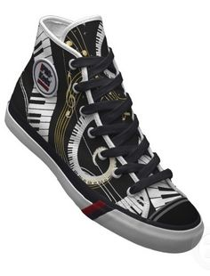 Piano Keyboard Pro Keds/Trainers/Sneakers/Shoes