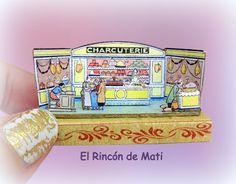 """Diorama """"La charcutería"""", escala 1/12, miniatura para casas de muñecas. de ElRincondeMati en Etsy"""