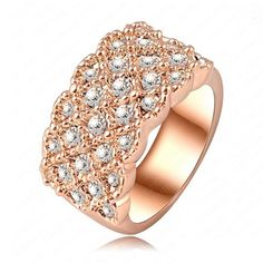 Charline - Swarovski Crystal Rose Gold Cocktail Ring