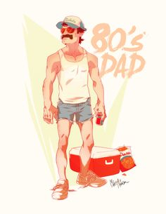 80s dad by Michael Anderson, via Behance