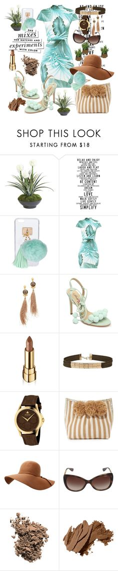 """pom-pom...."" by csfshawn on Polyvore featuring Ethan Allen, Ashlyn'd, Gas Bijoux, Penny Loves Kenny, Dolce&Gabbana, Miss Selfridge, Gucci, JADEtribe, Vogue Eyewear and Bobbi Brown Cosmetics"