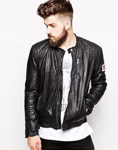 Увеличить Узкая байкерская кожаная куртка Pepe Lennon