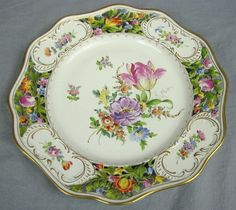 Dresden Porcelain (Germany) — Dinner Plate