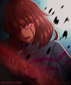 Glitchtale Frisk by JACKAPPLE680