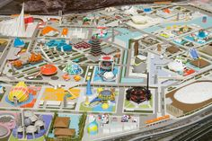 master plan and master design of trunk facilities 2011 by tange kenzo + nishiyama uzo within the 'city of the future - project Japan' exhibition in Tokio