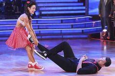 "Maks Chmerkovskiy & Meryl Davis danced the swing to Big Bad Voodoo Daddy's ""Big and Bad""  -  Dancing With the Stars  -  week 2  -  season 18  -  spring 2014  -  score 8+9+8= 25 of 30 possible points"