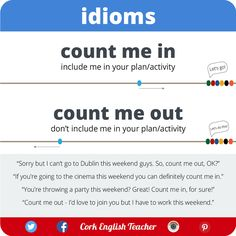 English is FUNtastic: Idioms - Count me in / Count me out