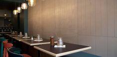 Restaurant MAISON - Concrete wall cladding