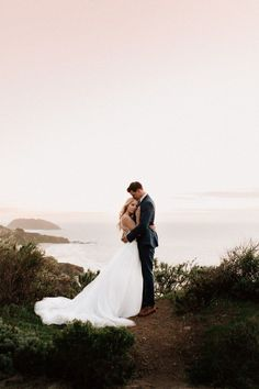 25 Sweet Seaside Photos That Will Convince You to Have a Beach Wedding Bride and Groom Seaside Wedding Photo Wedding Picture Poses, Wedding Couple Poses, Beach Wedding Photos, Beach Wedding Photography, Seaside Wedding, Wedding Photoshoot, Wedding Shoot, Dream Wedding, Beach Weddings