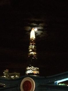Sometimes the amazing sights are just around the corner - the Shard from Tower Bridge.