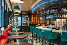 Top Interior Designers - Martin Brudnizki interior design project Drake One Fifty Bar Design in Toronto. Eclectic furnishings by Martin Brudnizki Design Studio.