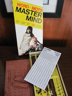 """Vintage """"Mastermind Word"""" Boardgame - Parker Bros 1972 - Game - Board Game - Family Game Night - All Ages - Languages"""