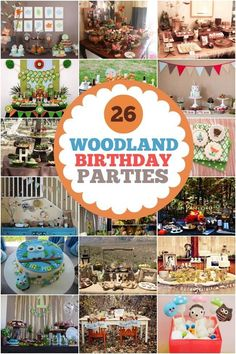 26 Woodland Themed Boy Party Ideas - Spaceships and Laser Beams Party Animals, Boy Birthday Parties, Birthday Party Decorations, Birthday Ideas, Drake's Birthday, Woodland Party, Forest Party, Woodland Forest, Woodland Theme
