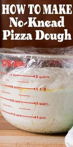 Easy No-Knead Pizza Dough No-knead pizza dough! So EASY. Make it ahead so it's ready when you want it. Use with any pizza recipe. - No-knead pizza dough! So EASY. Make it ahead so it's ready when you want it. Use with any pizza recipe. Wallpaper Food, Baking Wallpaper, No Knead Pizza Dough, Easy Pizza Dough Recipe, Pizza Dough Recipes, Stromboli Dough Recipe, Pizza Dough Mixer, Sourdough Pizza Dough Recipe, Bread Recipes