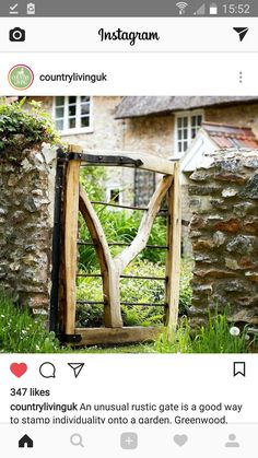 Rustic wooden gate