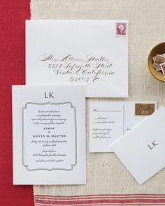 "See the ""Simple Monogram Invitation"" in our  gallery"