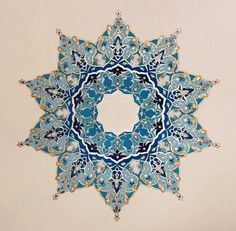 ❤~ Mandala ~❤ Art by Mojgan Lisar Islamic Art Pattern, Arabic Pattern, Persian Pattern, Persian Motifs, Pattern Art, Motif Oriental, Tattoo Henna, Islamic Paintings, Arabesque Pattern