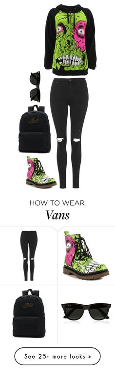 """""""Untitled #394"""" by lame-spacemilk on Polyvore featuring Iron Fist, Topshop, Vans and Ray-Ban"""