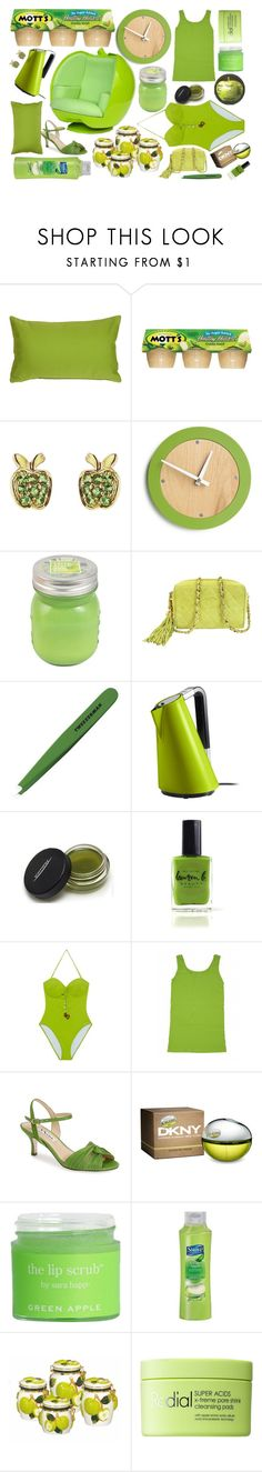 """4,000 Followers: Granny Smith Applesauce"" by rachael-aislynn ❤ liked on Polyvore featuring interior, interiors, interior design, home, home decor, interior decorating, Pillow Decor, Sydney Evan, SONOMA Goods for Life and Chanel"