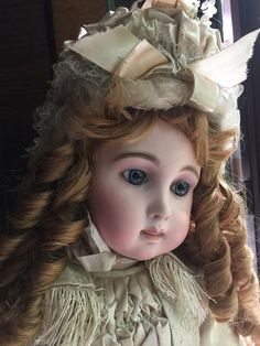 """Exquisite antique French Bebe commonly referred to as """"Triste"""" Jumeau"""