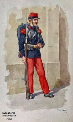 French; Infantry, Grande Tenue, 1913 by André Marcy