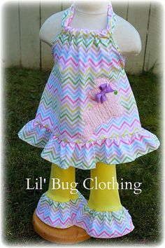 Custom Boutique Clothing  Easter Bunny Pastel by LilBugsClothing, $42.00