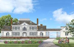 Modern Georgian, Georgian Style Homes, Modern Colonial, Colonial House Plans, Southern House Plans, Southern Style Homes, Best House Plans, House Floor Plans, Room Above Garage