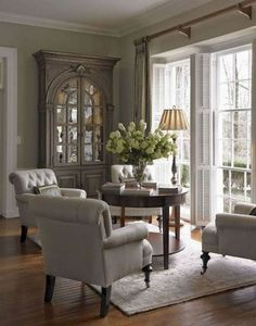 04 Beautiful French Country Living Room Ideas Charming French Country Design and Decor Ideas for 2018 Formal Living Rooms, My Living Room, Home And Living, Living Spaces, Cozy Living, Modern Living, Small Living, Cottage Living Room Decor, Living Room Hutch