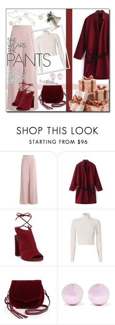 """Charmed ! (work wear)"" by emapolyvore ❤ liked on Polyvore featuring Zimmermann, Kenneth Cole, A.L.C., Rebecca Minkoff, J.W. Anderson, Christmas, booties, pants, newyear and yoins"