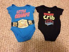 Baby Boy Onesies Lot 2 WWE Wrestling 0-3 Months #WWEWrestlingOnesies #Everyday