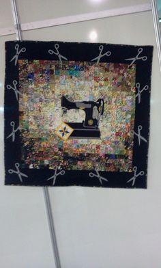 Painel - máquina de costura patchwork