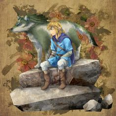 Link and WolfLink Breath of the Wild