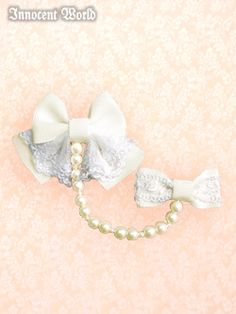 Pearl Chain Ribbon Clip