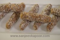 Date And Coconut Fingers: Little kids will simply love these delicious and nutritious sweet fingers.