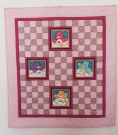 Baby girl quilt Handmade baby quilt Crib quilt by GotBabyGetQuilt