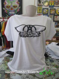 Blusa Gola Canoa - Aerosmith R$45,00