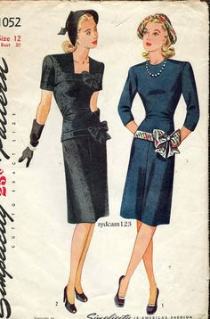 Vintage 1945 Fitted Dress Bodice and Hip by sydcam123 on Etsy, $24.00