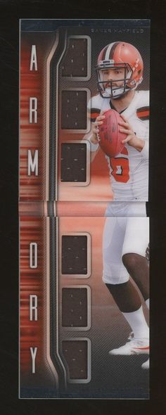2018 Panini Playbook Armory Booklet Baker Mayfield RC Rookie Multi Jer Baker  Mayfield 988225e42