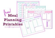 Free Printable Meal Plan Page and Grocery List