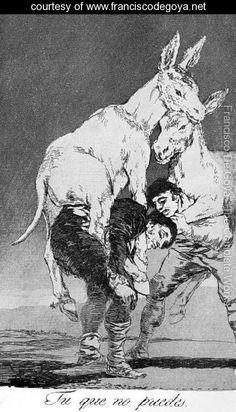 Caprichos Plate 42 They Who Cannot - Francisco De Goya y Lucientes - www.franciscodegoya.net