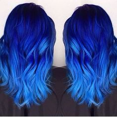 Are you looking for dark blue hair color for ombre and teal? See our collection full of dark blue hair color for ombre and teal and get inspired! Dark Blue Hair, Hair Color Purple, Hair Dye Colors, Cool Hair Color, Black Hair, Bright Blue Hair, Colorful Hair, Pastel Blue, Blue Hombre Hair