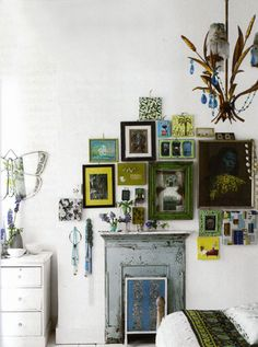 love little gallery walls tucked into unexpected spaces