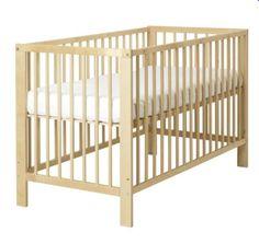 Ikea {gulliver} blonde wood crib!